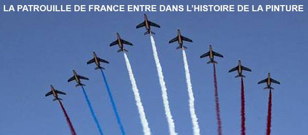 14 juillet 2018 La patrouille de France entre dans l'histoire de la Pinture
